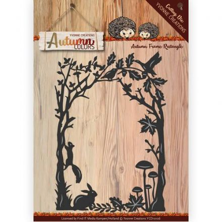 YCD10106 ~ Autumn  Frame Rectangle ~ Yvonne Creations